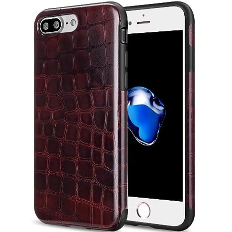 coque iphone 8 plus rouge foncé