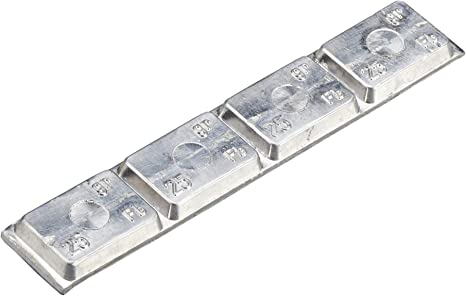 6x Pesi adesivi di equilibratura argento Tipo380 da 60g per cerchi in lega Hofmann Power Weight Pesi adesivi per cerchi in lega Contrappesi adesivi