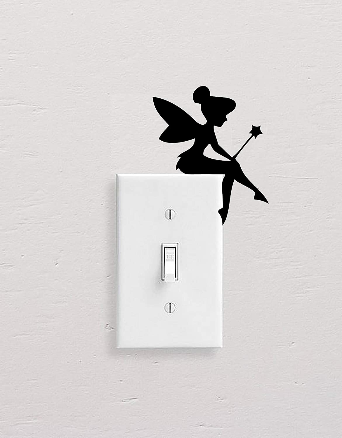 Vinyl Decal Sticker  Tinkerbell Fairy  for Light Switch, Wall, Laptop, Water Bottle, Car, SUV, Bikes and Home Decor