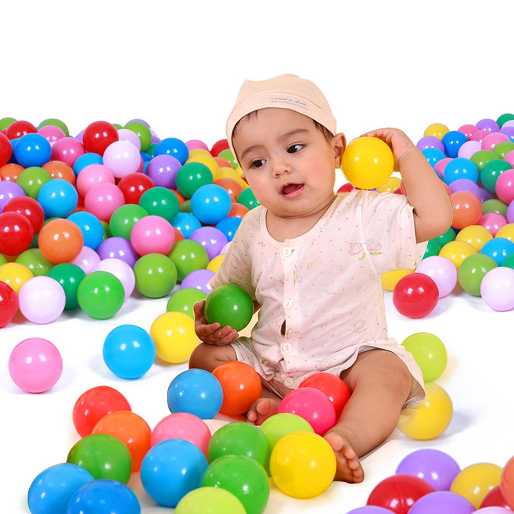 Takeashi Colorful BPA Free Crush Proof Plastic Ball for Ball Pit Balls for Toddlers Kids Toys-25//50//100 Pcs//Pack
