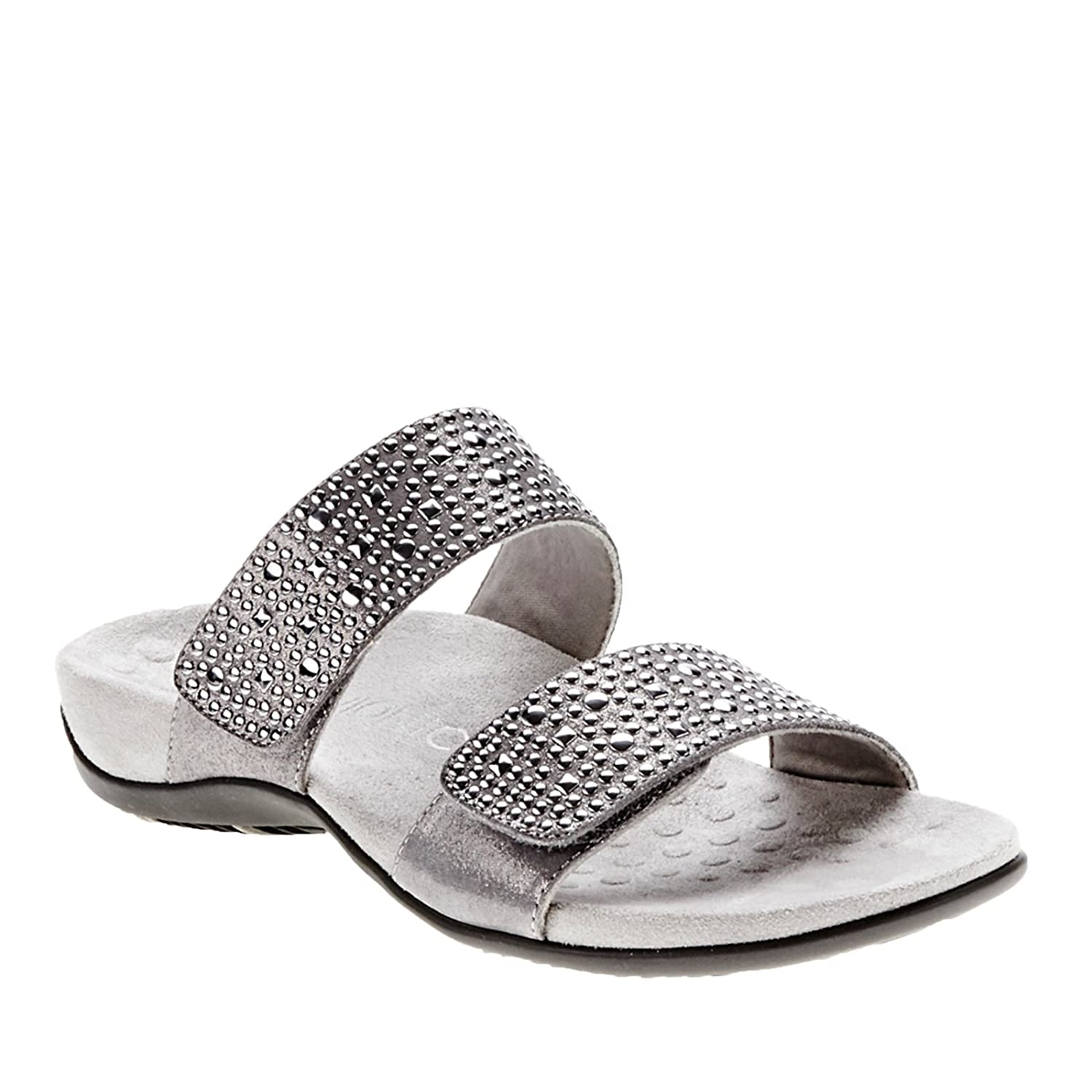 3f58620d0f2 Available For Vionic Women s Samoa Slide Sandal Pewter 11 W On Store ...
