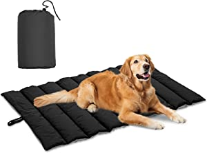 Howhom Outdoor Dog Bed 43 X 26 Inches, Waterproof and Machine Washable Dog Mat Suitable for All-Season, Pet Mats for Small, Medium, Large Dogs and Cats with Portable Storage Bag for Camping, Travel