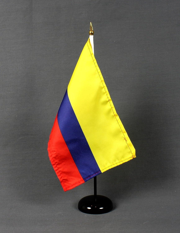 Bandera de Mesa Colombia 15 x 25 cm (S) con poli - mesa fahnenmax soporte 37 cm de altura, muy soporte fijo: Amazon.es: Deportes y aire libre
