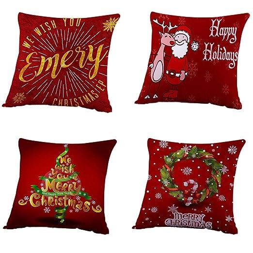 Unionm 61# Fundas de almohada para decoración navideña, tela ...