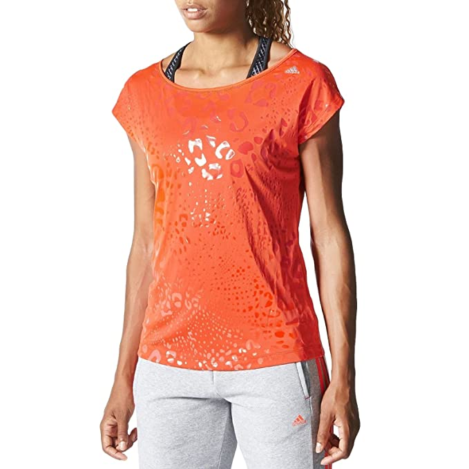 adidas Performance Climalite - Camiseta Mujer - Running Gimnasio - Naranja - XS: Amazon.es: Ropa y accesorios