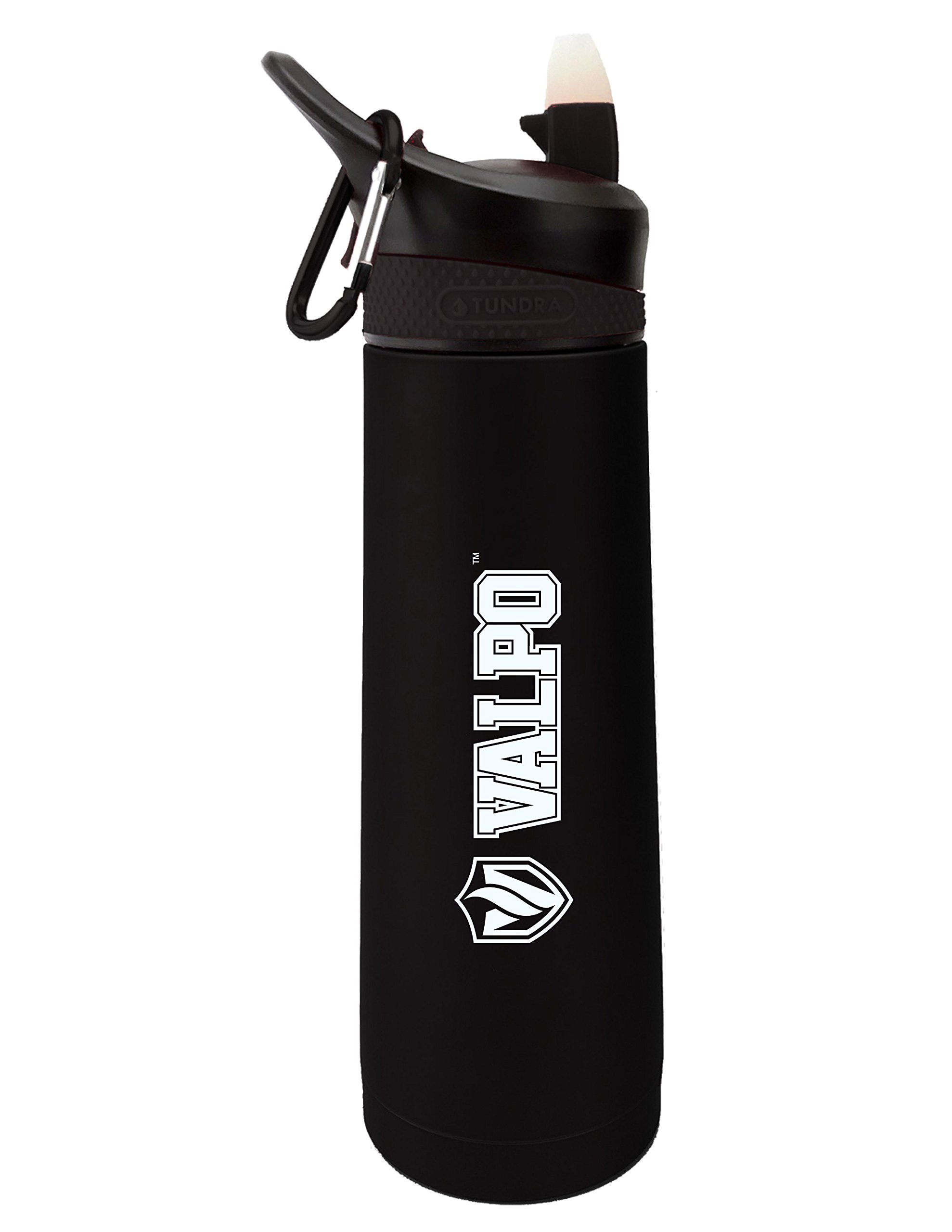 Fanatic Group Valparaiso University Dual Walled Stainless Steel Sports Bottle, Design 1 - Black
