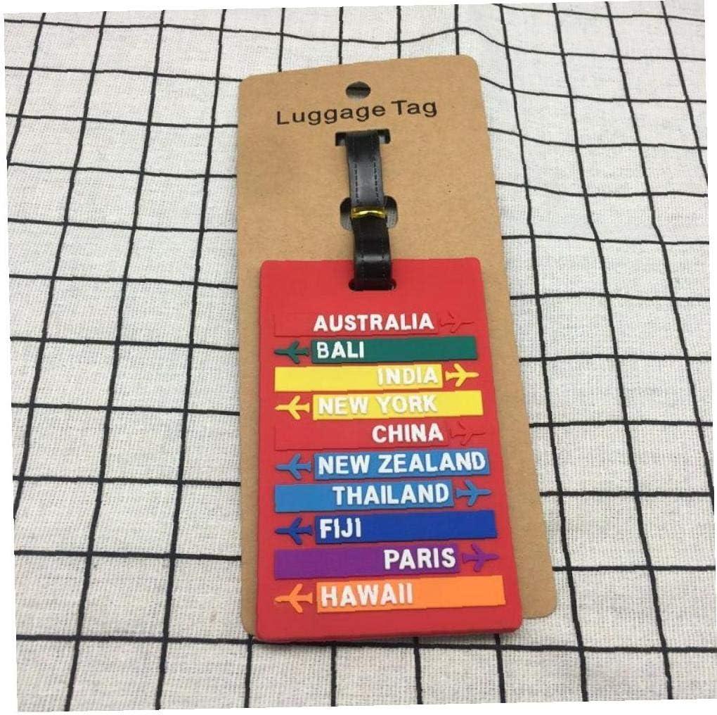 Casecover 1pc Voyage Bagages Valise /Étiquettes /Étiquettes Didentification Carte De Visite Porte-/étiquette De Bagage Accessoires Voyage Rouge