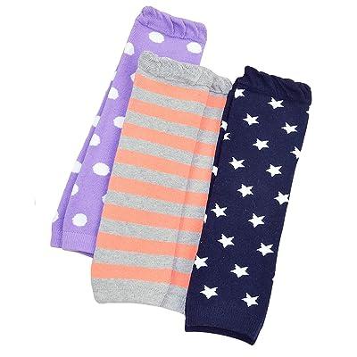 3 Pack Baby Girls Boys Stripe Dot Star Patterned Leg Warmers Leggings