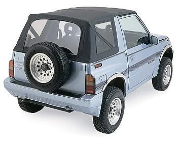 Rampage Jeep 98935 tapa blanda, OEM Replacement, 1999 - 2002 Suzuki Vitara/Geo Tracker, Black Diamond w/vidrios polarizados: Amazon.es: Coche y moto