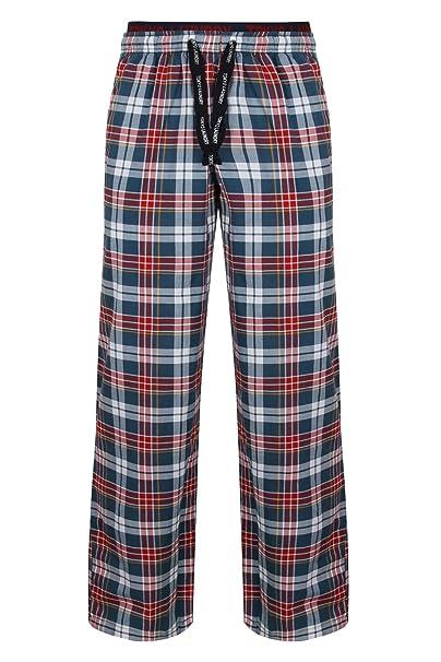 Tokyo Laundry - Pantalón de Pijama - Cuadrados - para Hombre Rojo S
