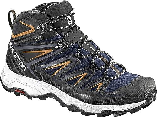 Buy SALOMON Men s X Ultra 3 Wide Mid GTX Trail Running Shoe