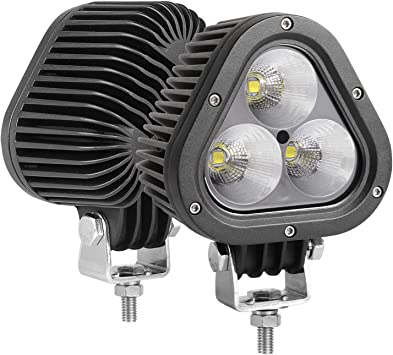 Universal 2PCS Waterproof Car Truck LED Light 12V 24V Triangle Sign Foglight