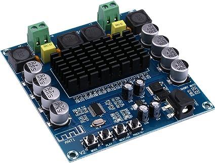 Digital Bluetooth Poder Amplificador Amperio Ampli Junta, Yeeco Doble Canal 100W + 100W Audio Estéreo