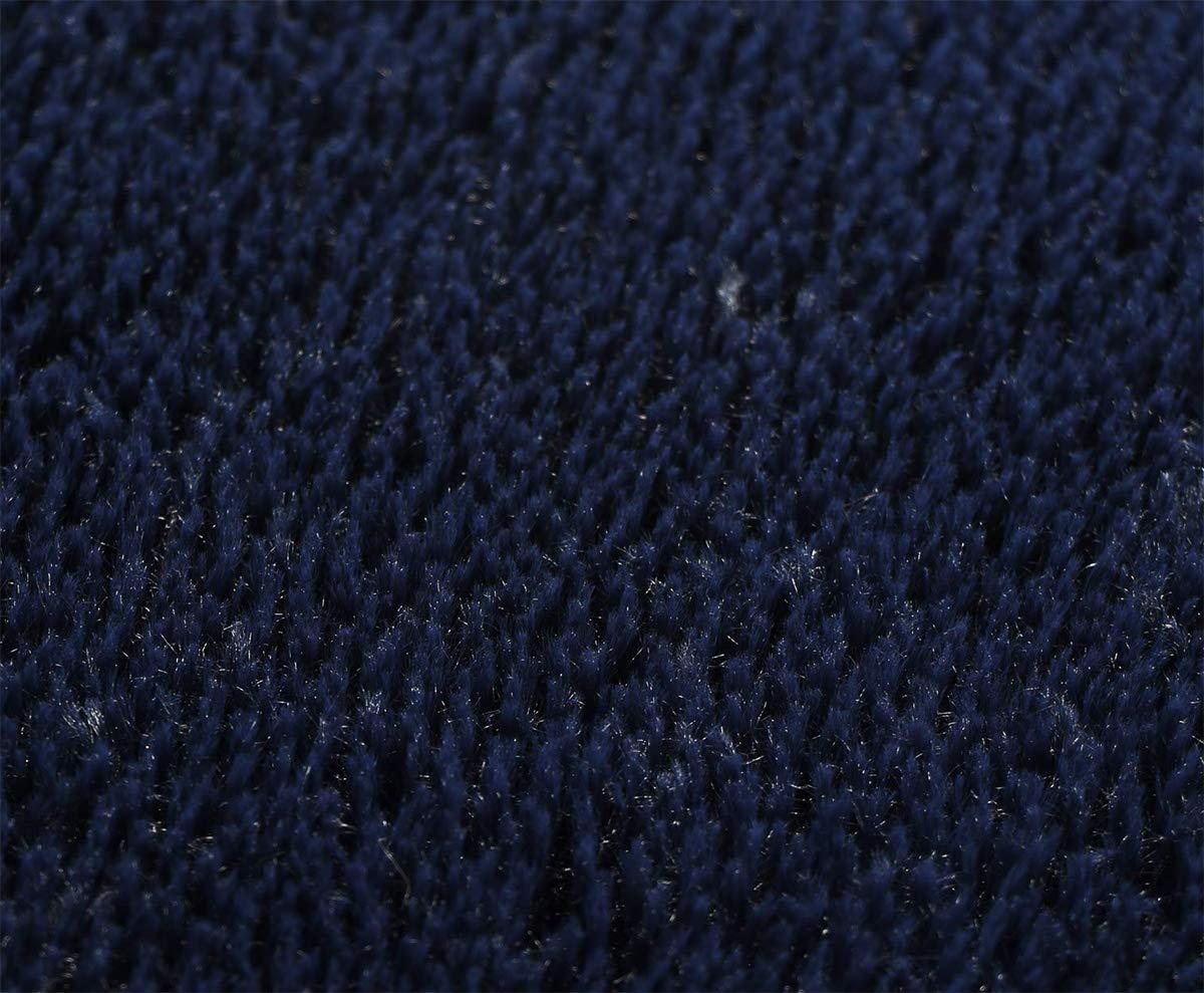 Grey, 4 X 4 FlashLTD Fluffy Ultra Soft Shaggy Area Rugs for Bedroom Fluffy Carpet for Kids Room Bedside Nursery Mats