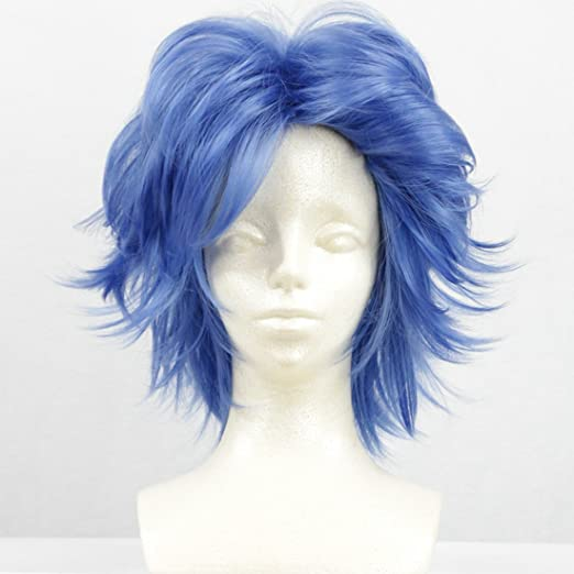 Amazon.com: Sailor Moon Crystal Mizuno Ami Cos Wig Blue Hair Curly Short 35cm Anime Cosplay Wigs: Beauty