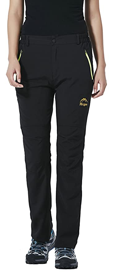 2781583f5f7af LancerPac Quick Dry Lightweight Women s Breathable Hiking Pants Outdoor  Black XS