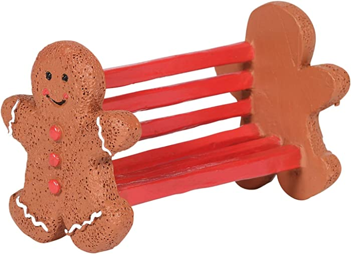 Department 56 Village Collection Accessories Gingerbread Bench Figurine, 1.61 Inch, Multicolor