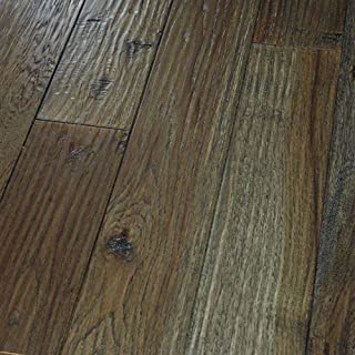 "product image for Homerwood Hardwood Solid Hickory Amish Hand Scraped 4"" - Graphite $9.17SF"