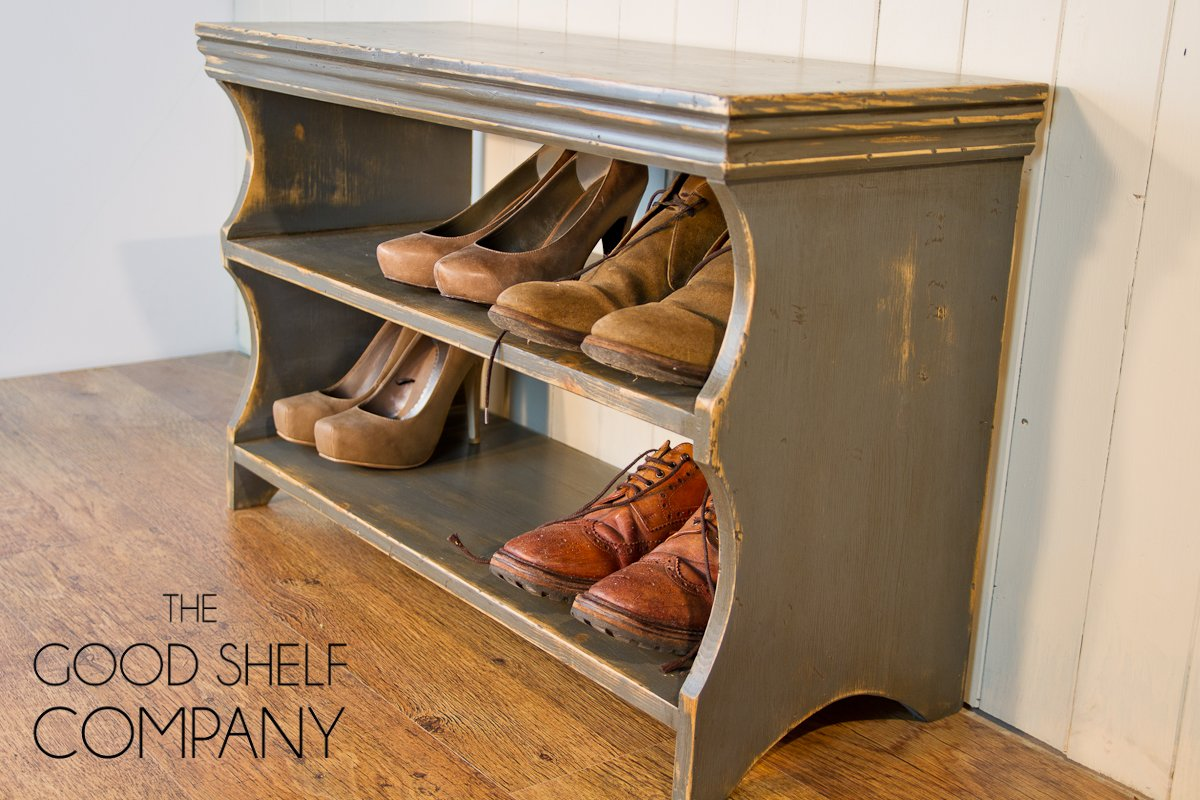 Shoe Storage Cabinet, Rack, Bench, Stool - Vintage Grey: Amazon.co.uk:  Kitchen & Home - Shoe Storage Cabinet, Rack, Bench, Stool - Vintage Grey: Amazon.co