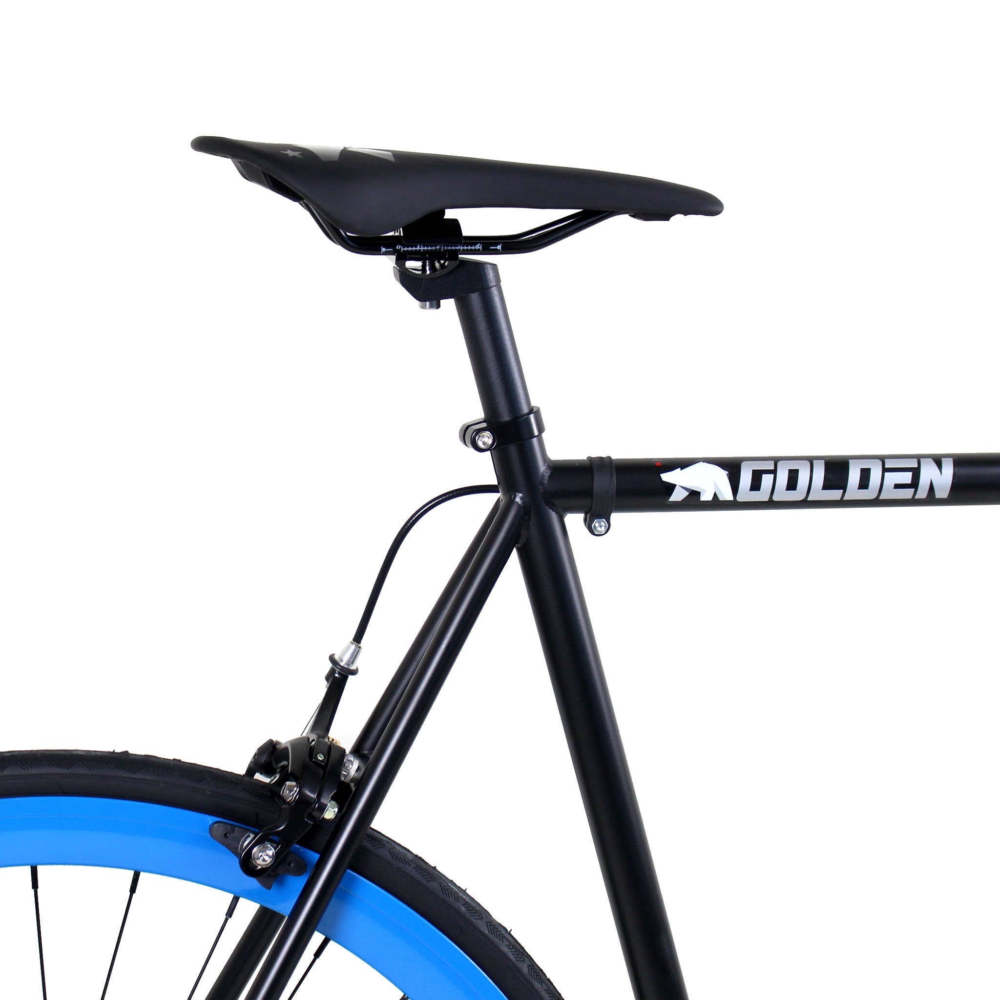Golden Cycles Fixed Gear Bike Steel Frame Fixie with Deep V Rims-Collection (Magic, 52) by Golden (Image #3)