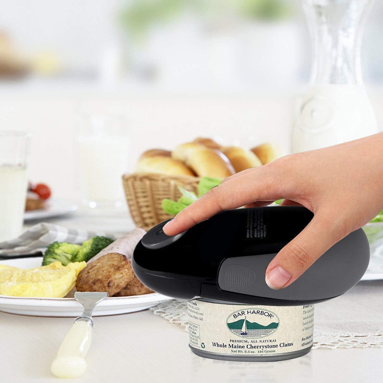 Monland Apriscatole Elettrico Apriscatole Automatico da Ristorante per Anziani con Artrite Apriscatole Elettrico con Bordo Liscio