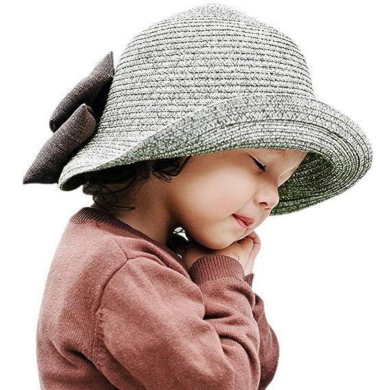 ARAUS Sombreros de Paja de Sol Playa Gorra de Bola Ala Ancho Protector  Visera de Verano para Niñas Chicas 2-10Años  Amazon.es  Ropa y accesorios d28861bca99