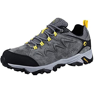 HUMTTO Mens Non-Slip Breathable Outdoor Low-Top Leather Lightweight Trekking Hiking Shoes | Hiking Shoes