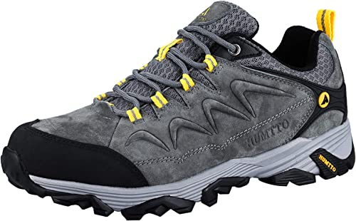HUMTTO Hiking Shoes for Men Slip-Resistant Climbing Shoes Lightweight Walking Trekking Breathable Sneaker