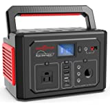 ROCKPALS 350W Portable Power Station, 288Wh Powered Generator Lithium Battery Pack Camping Generator with 110V AC Outlet, QC