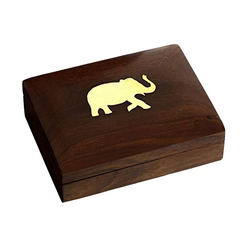 ShalinIndia scatola di legno cassa del supporto di sigaretta arredamento indiano