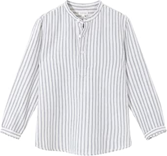 Gocco Camisa Rayas Cuello Mao, Camisa para Niños