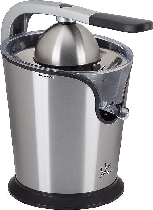 Jata Exprimidor eléctrico con brazo EX1039 - Cuerpo, filtro y vertedor de acero inoxidable, Motor AC, Extracción continua, Dos conos, Desmontable, ...