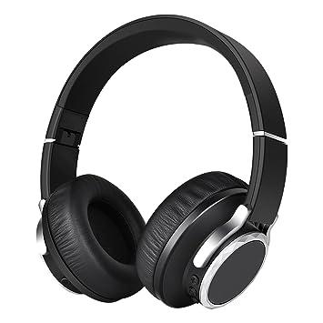 Auriculares Inalámbricos,Bluetooth Auriculares V4.1 Estéreo Música Plegable Tipo diadema con Micrófono Manos Libres y Hi-Fi Sonido Estéreo Orejeras de ...