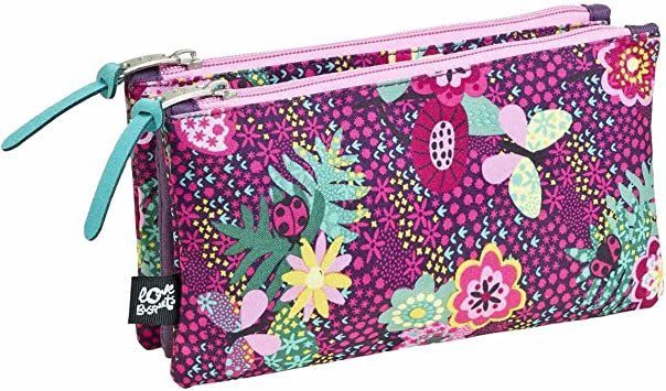 Estuche Escolar Triple Garden by BUSQUETS: Amazon.es: Equipaje
