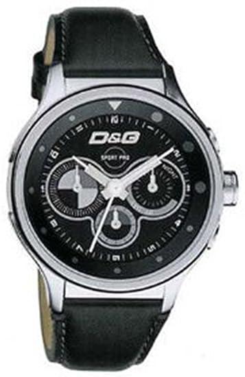 d20f1e568 D&G Dolce&Gabbana D&G Codename - Reloj cronógrafo de caballero de cuarzo  con correa de piel negra