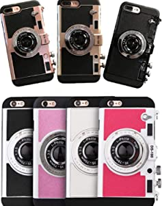 ZHHO Ful Emily Paris 3D Phone Case Vintage Camera for iPhone 11 Pro X Max Xs Xr 2020New Rose Gold for iphone11pro max