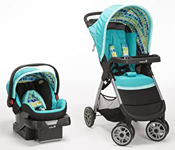 Safety 1st Amble Quad Travel System With Onboard30 Infant Car Seat Rainbow Ice