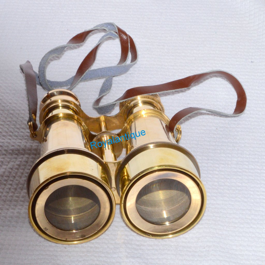 ANTIQUE BRASS OPERA THEATER GLASSES BINOCULAR-NAUTICAL VINTAGE GIFTED BINOCULAR royalantique