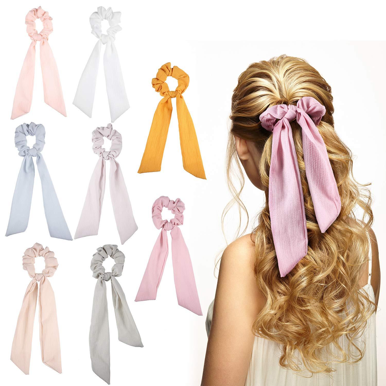 Set of 4 scrunchies spring scrunchy set hair ties
