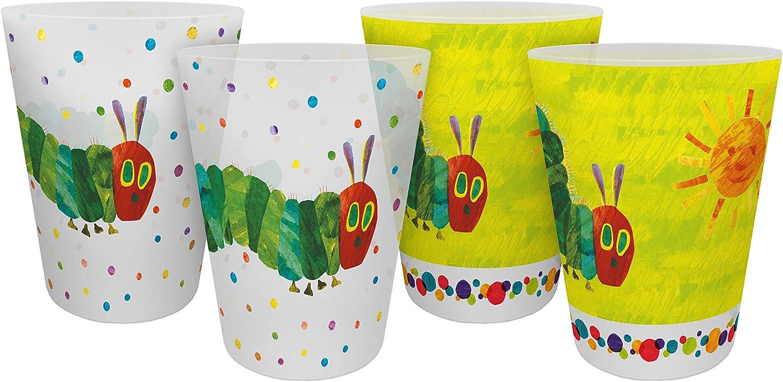 The Very Hungry Caterpillar Reusable Cup Plastic Cup Set Polypropylene Green
