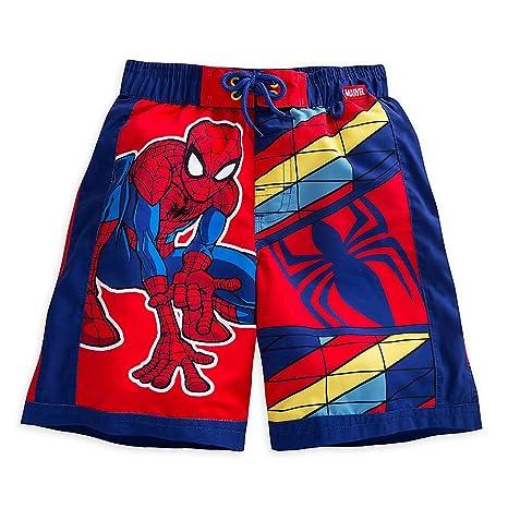 b195100db3 Amazon.com: Marvel Spider-Man Swim Trunks for Boys Size 7/8 Red ...