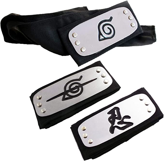 Amazon.com: Lystin Naruto Leaf Village Ninja Shinobi Diadema ...