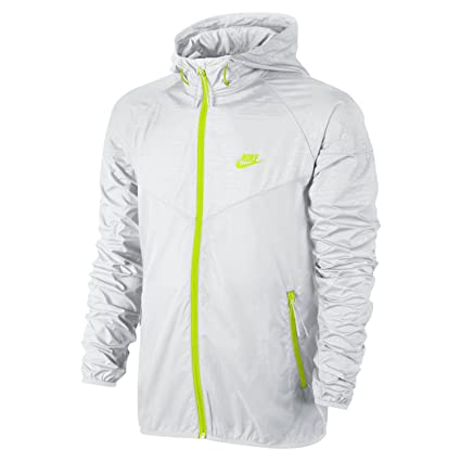 official photos cfb0b 5ec18 Amazon.com  Nike Men s Sunset Printed Windrunner Jacket, White Volt, Large   Sports   Outdoors