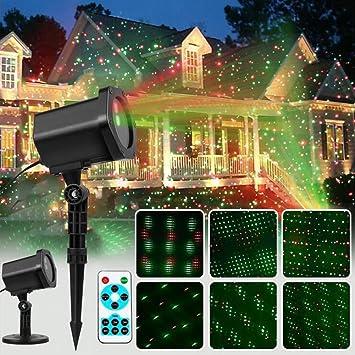 Weihnachtsbeleuchtung Aussen Motive.Weihnachtsbeleuchtung Projektor Innen Außen Ip44 2 Farben Modi