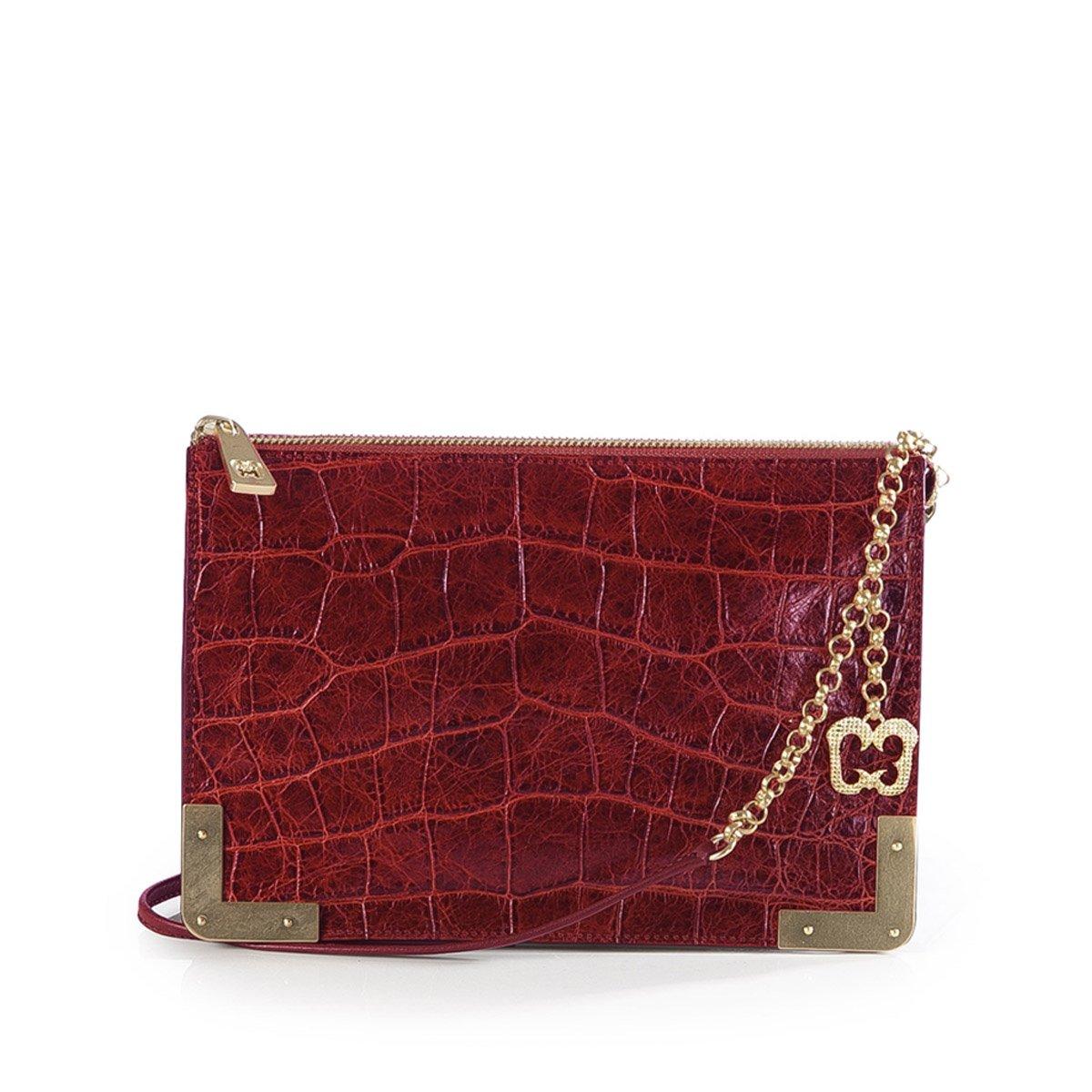 Eric Javits Luxury Fashion Designer Women's Handbag - Perkins II - Red
