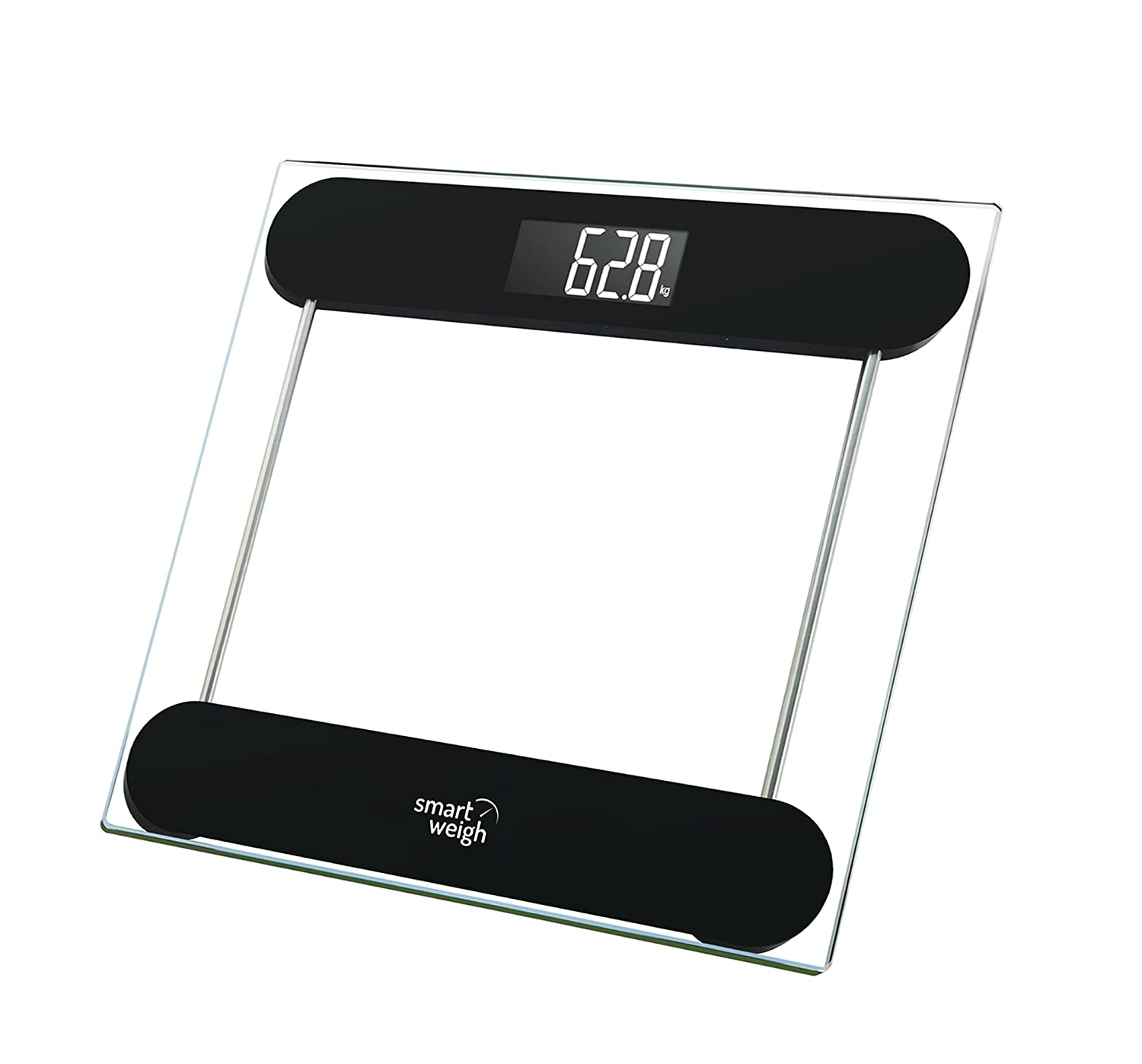 Amazon com  Smart Weigh Precision Digital Vanity   Bathroom Scale   quot Smart Step On quot  Technology  Tempered Glass Platform and Large Backlight Display  Home  amp. Amazon com  Smart Weigh Precision Digital Vanity   Bathroom Scale