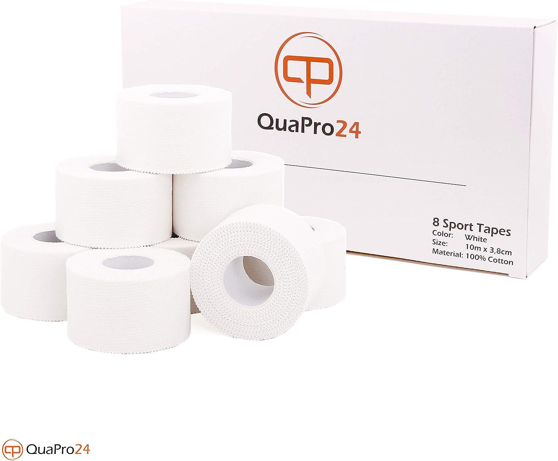 QuaPro24 - Juego de 8 rollos de cinta adhesiva (10,3 m x 3,8 cm ...