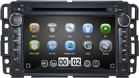 hizpo Car Stereo DVD Player for GMC Chevy Silverado 1500 2012 GMC Sierra 2011 2010 7 inch Quad Core Double Din in Dash Touchscreen FM/AM Radio ...