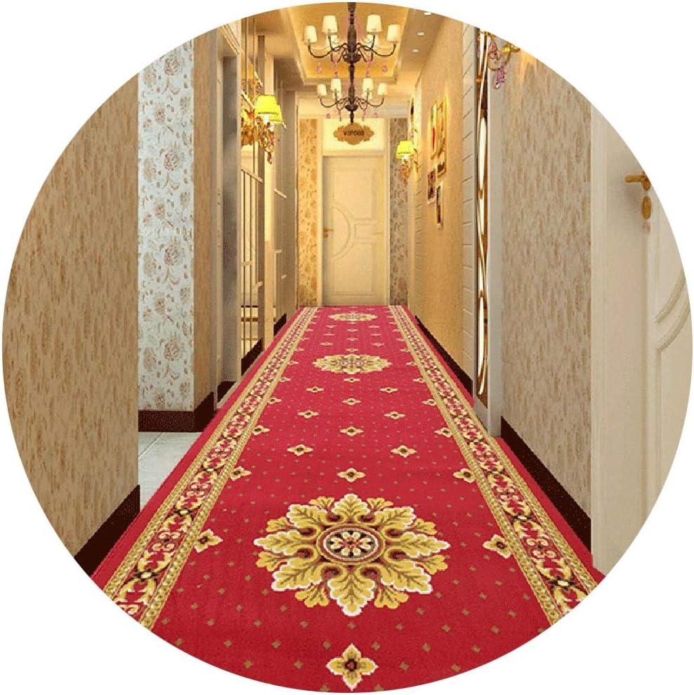 Alfombras de Pasillo Roja Antideslizante Pasillo Escalera De Cocina, Hogar/Hotel Pasillo Fácil De Limpiar, Tamaño Opcional (Size : 1×13m): Amazon.es: Hogar