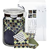Glass KindNotes INSPIRATIONAL Keepsake Gift Jar of Messages for Him or Her on Him or Her Birthday, Thank you, Anniversary, Just Because - Earth Diamonds